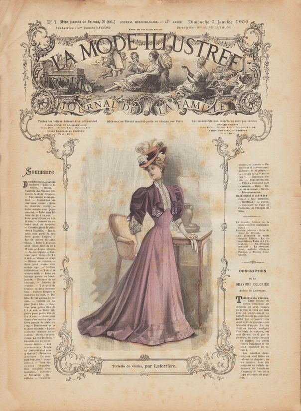 La mode illustrée 1906 N°1