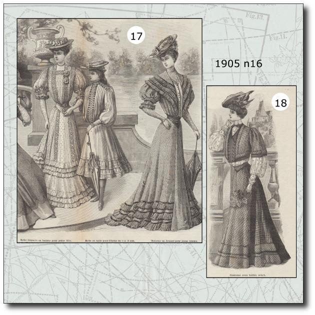 patrons mode illustrée 1905