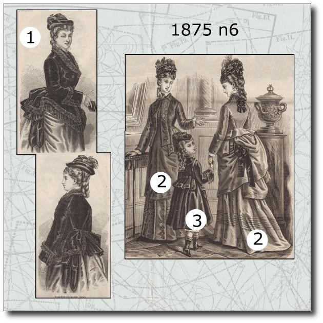 patron manteau petite fille 1875