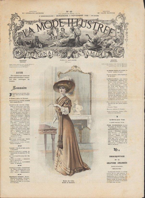 revue mode illustrée 1908