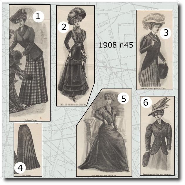 patrons mode illustrée 1908 45