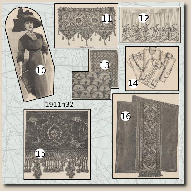 patrons revue de mode 1911