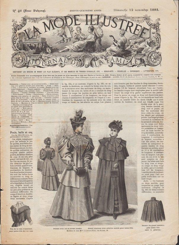 revue et patrons de poupée de la mode illustrée 1893 46
