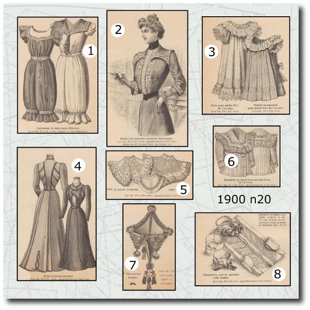 patrons costume de bain de La mode illustrée 1900 20