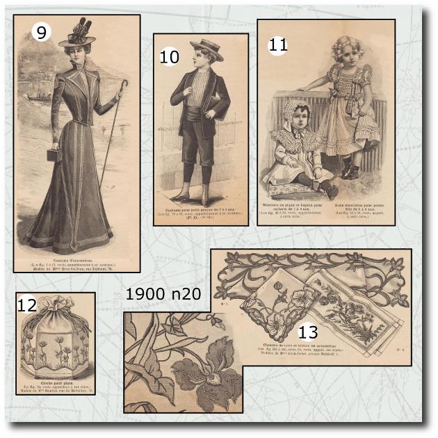 patron robe de la mode illustrée 1900 20