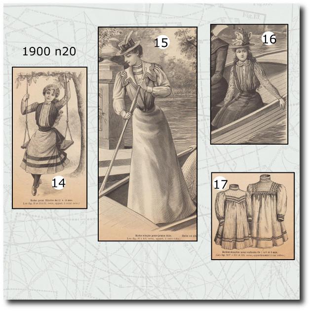patrons de robes et broderie de la mode illustrée 1900 20