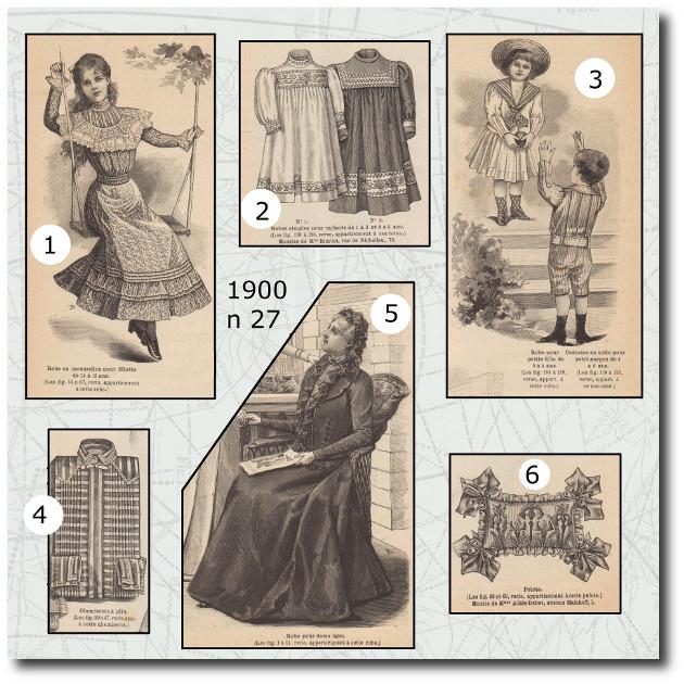 Patrons de la Mode Illustrée1900 n27