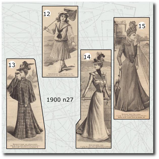Manteau de voyage de La Mode Illustrée 1900
