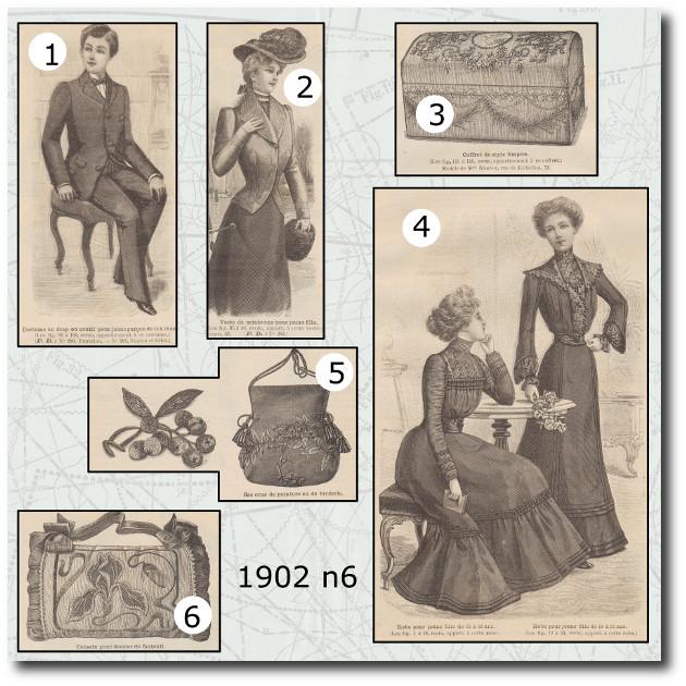 Patrons la mode illustrée 1902 n6