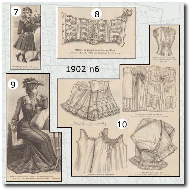 Patron de la mode illustrée 1902 n6