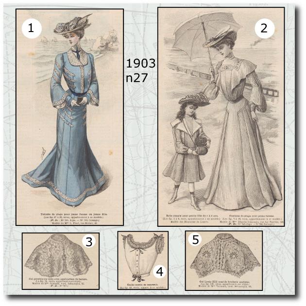 revue et patrons la mode illustrée 1903 n27