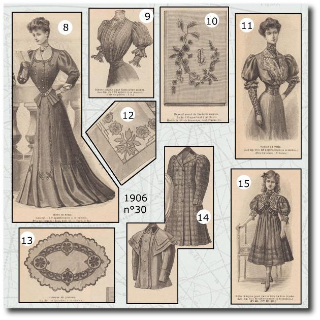 patron de la mode illustrée de 1906