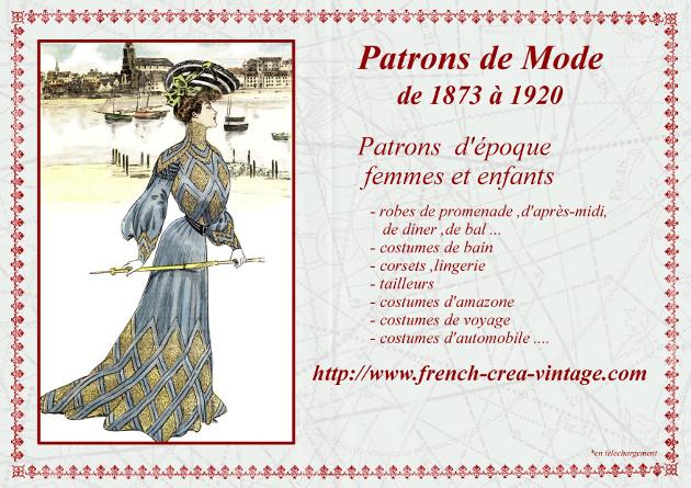 Revues et patrons de mode ancienne