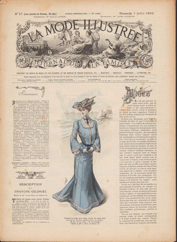revue la mode illustrée 1903 27