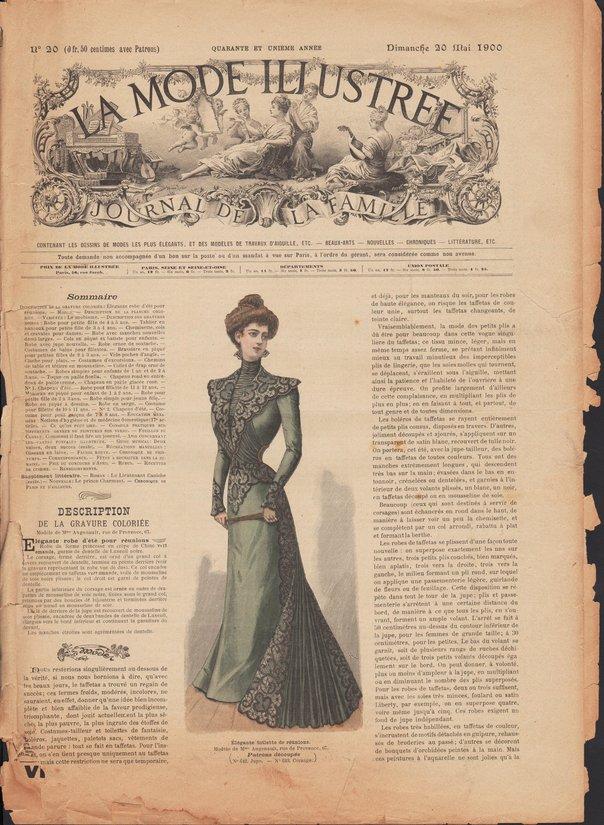 revue La Mode Illustrée 1900 20