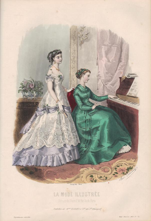 mode illustrée 1867 gravure
