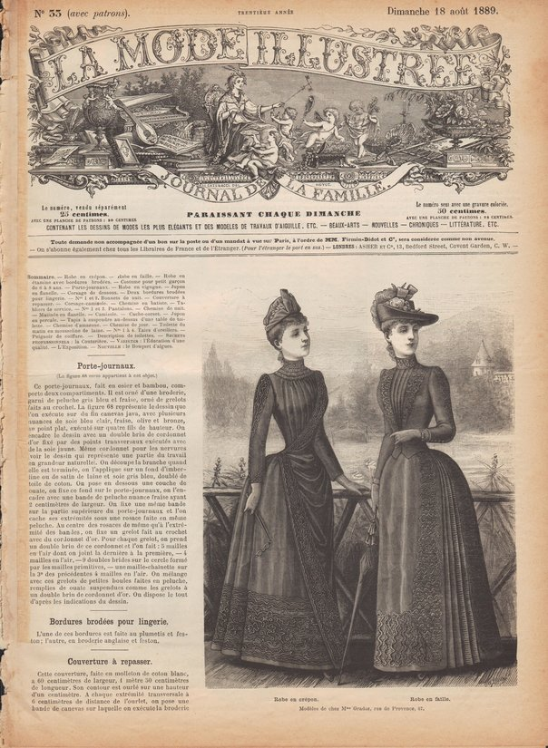 sewing patterns 1889