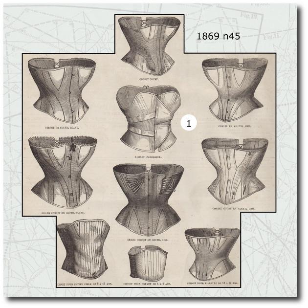 corset de la mode illustrée 1869 45