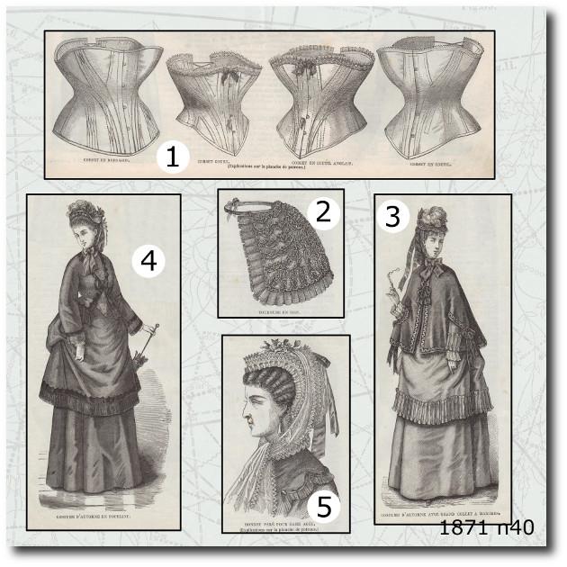 corsets mode illustrée en 1871