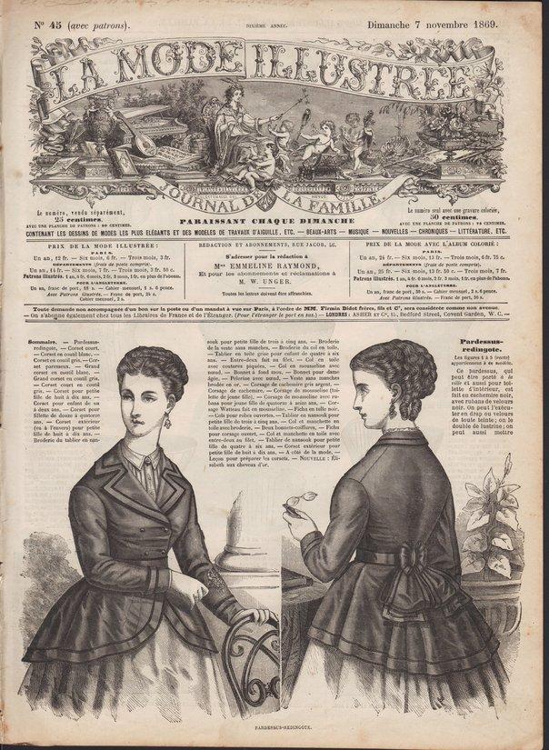 corsets de la mode illustrée 1869
