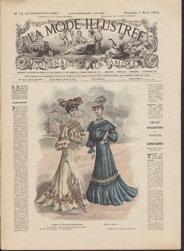 patrons mode illustrée 1904