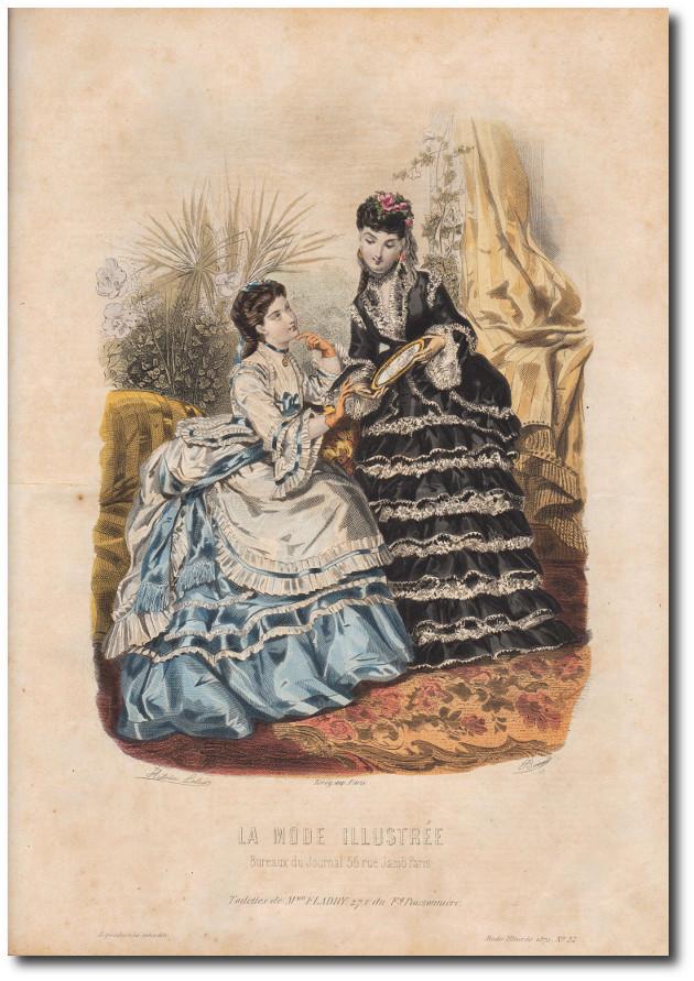 gravure de mode 1870