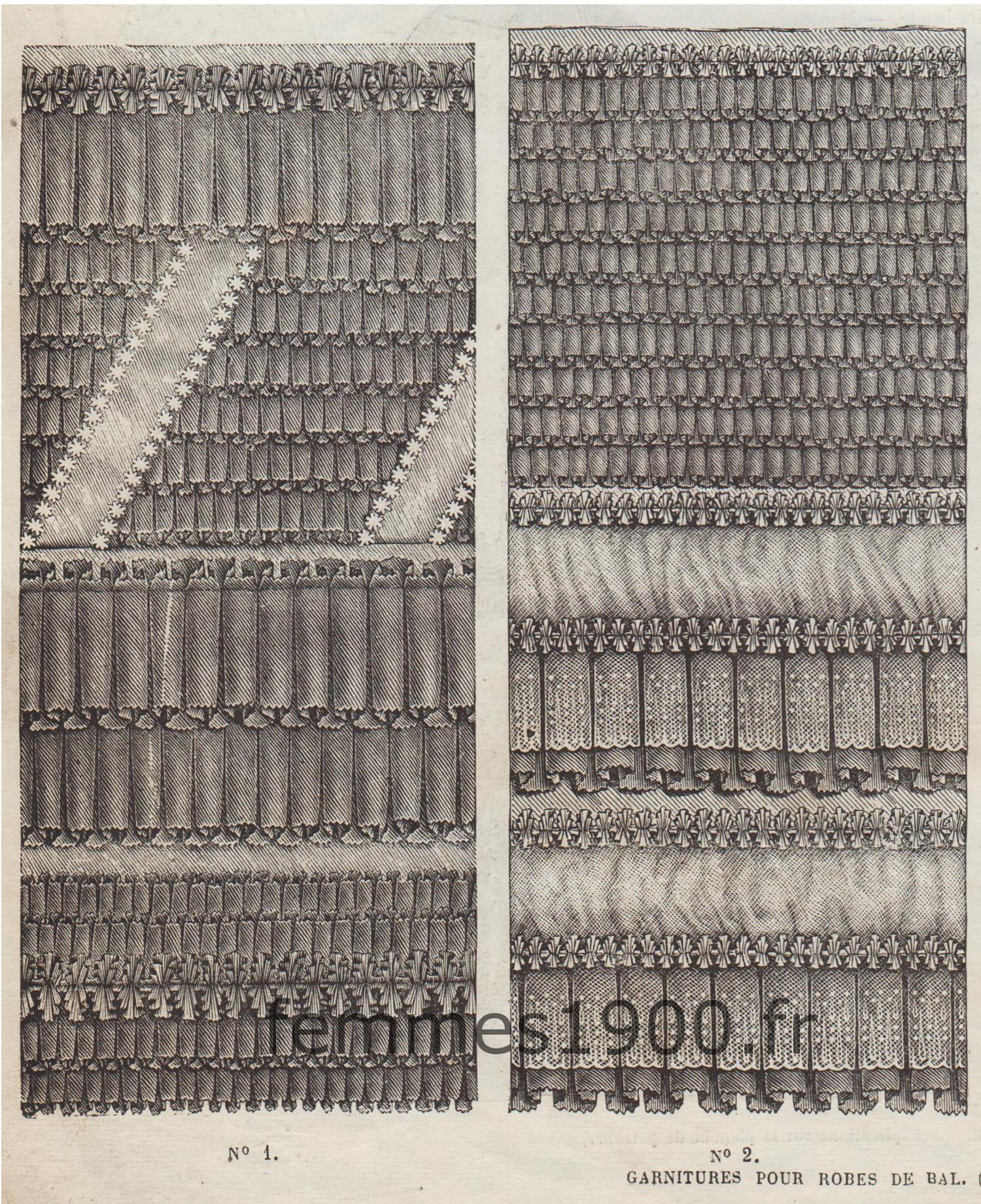garniture de robes de bal 1870