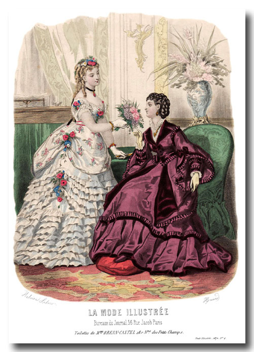 robe de bal 1870