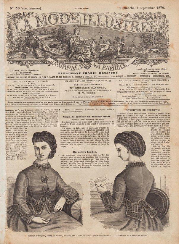 revue de mode 1870