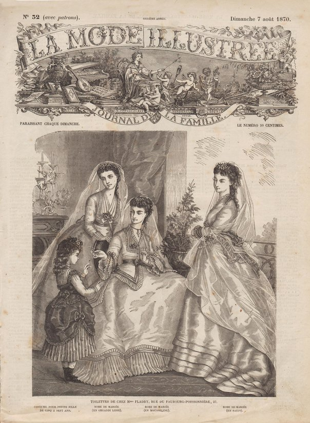 robe de mariée 1870