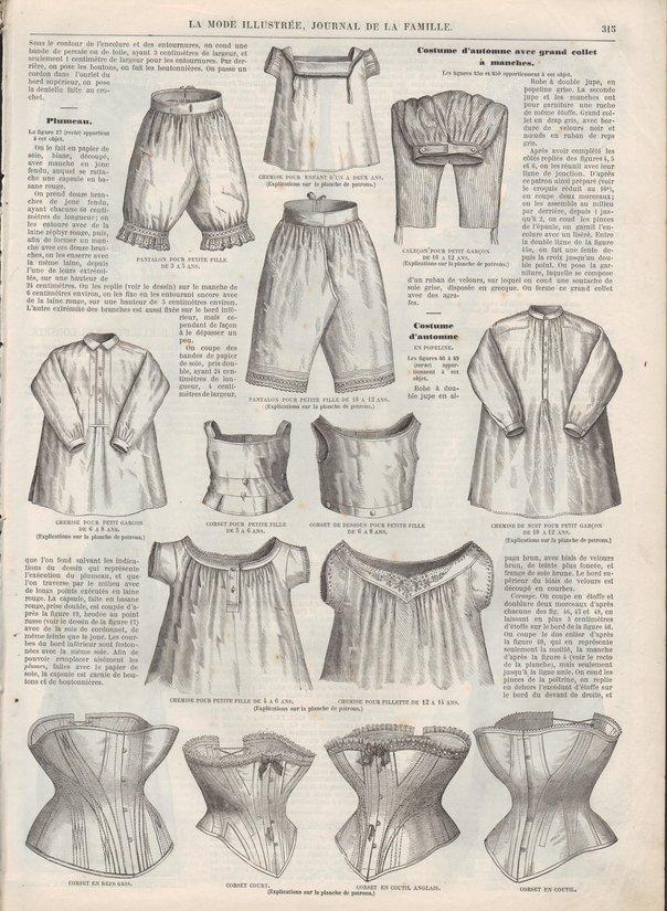 patrons corset 1871