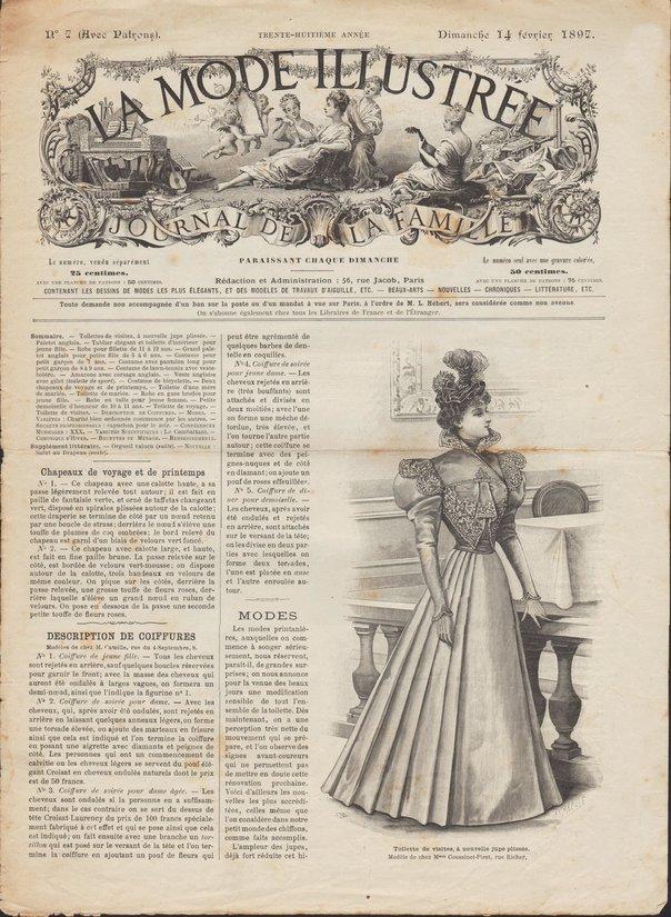 robe ornée de galons en 1897