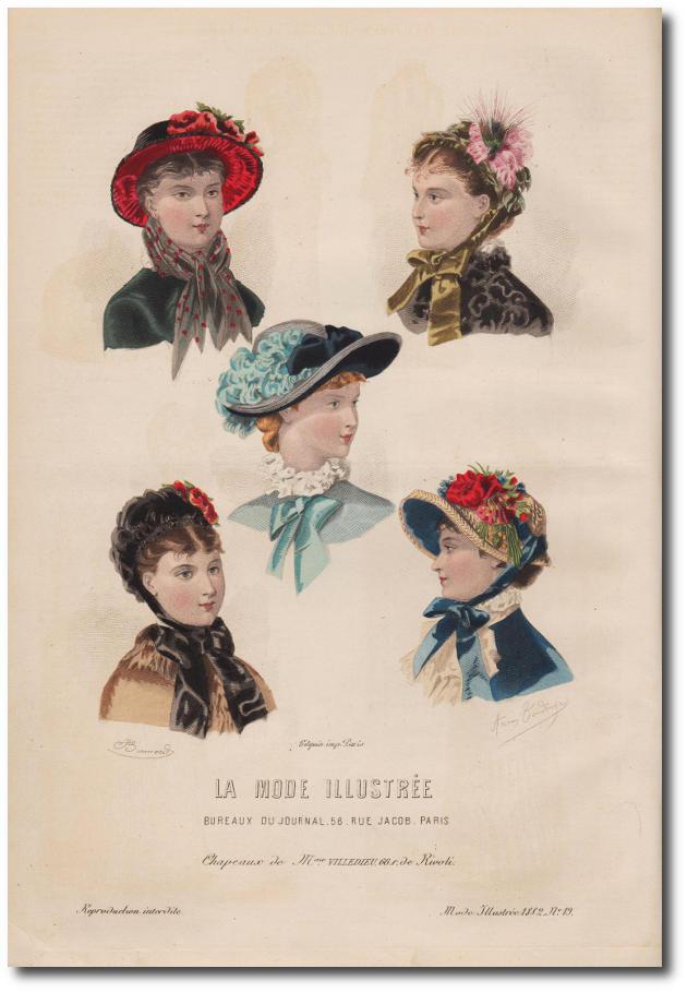 chapeaux 1882