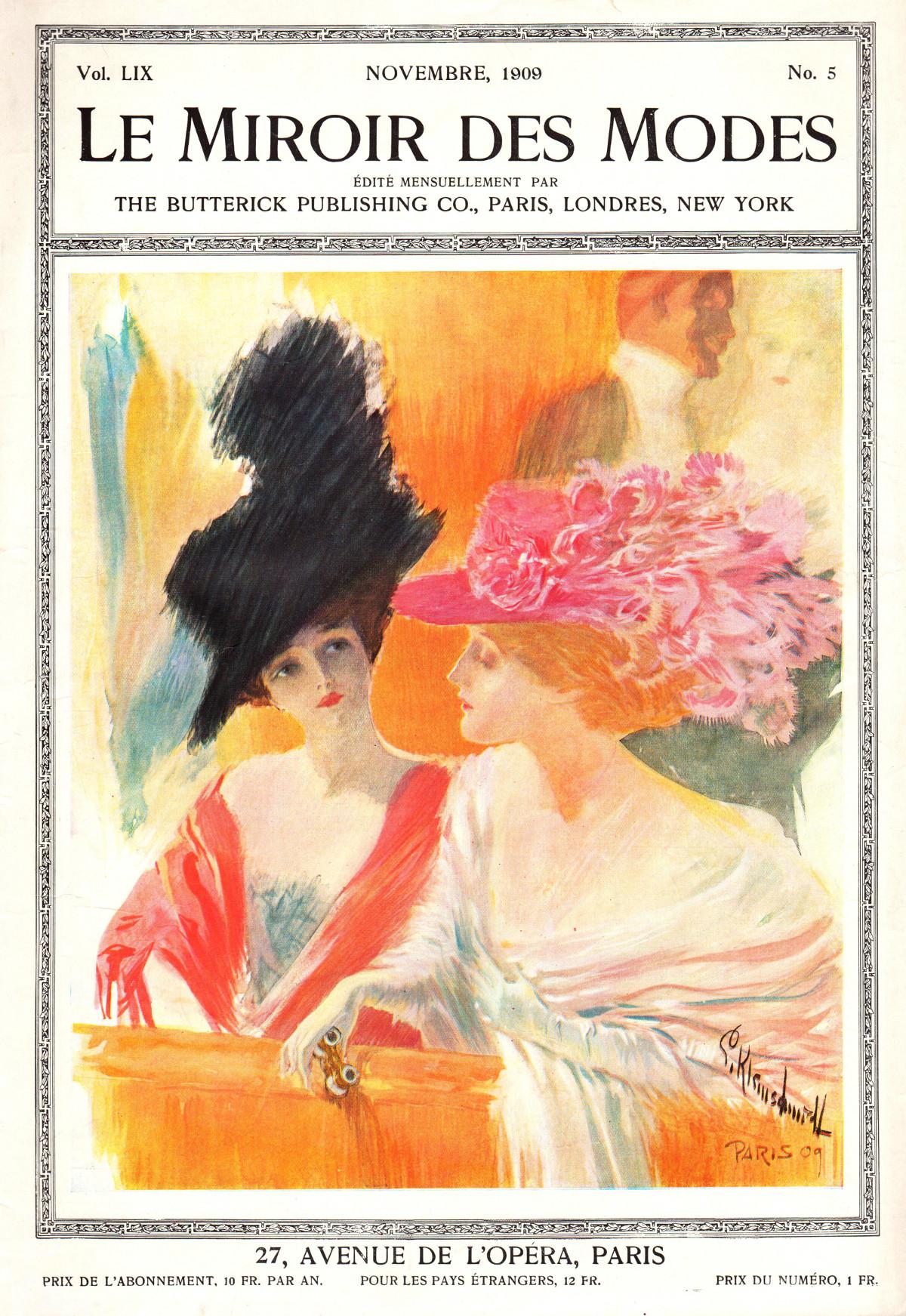 le miroir des modes 1909