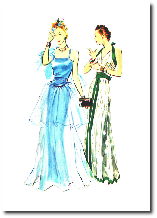 robes du soir 1938