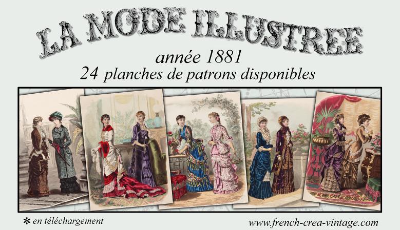 patrons couture 1881 victorien