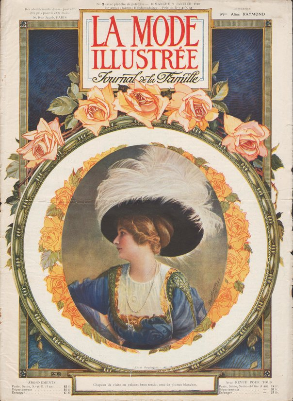 patron robe de mariée en 1910