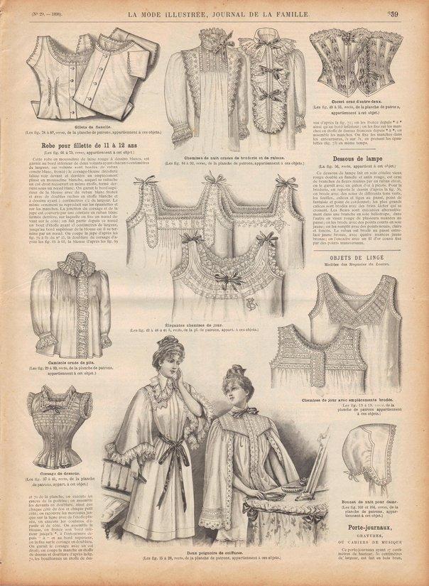 patrons de corset et lingerie