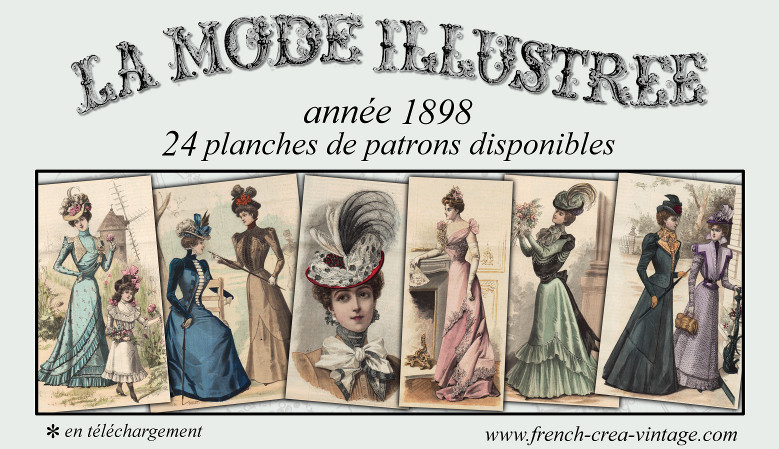 patrons de mode victorienne de 1898