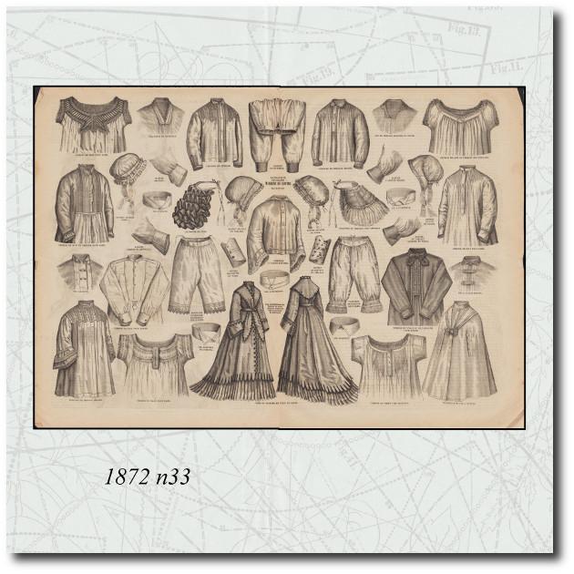 patrons de lingerie en 1872
