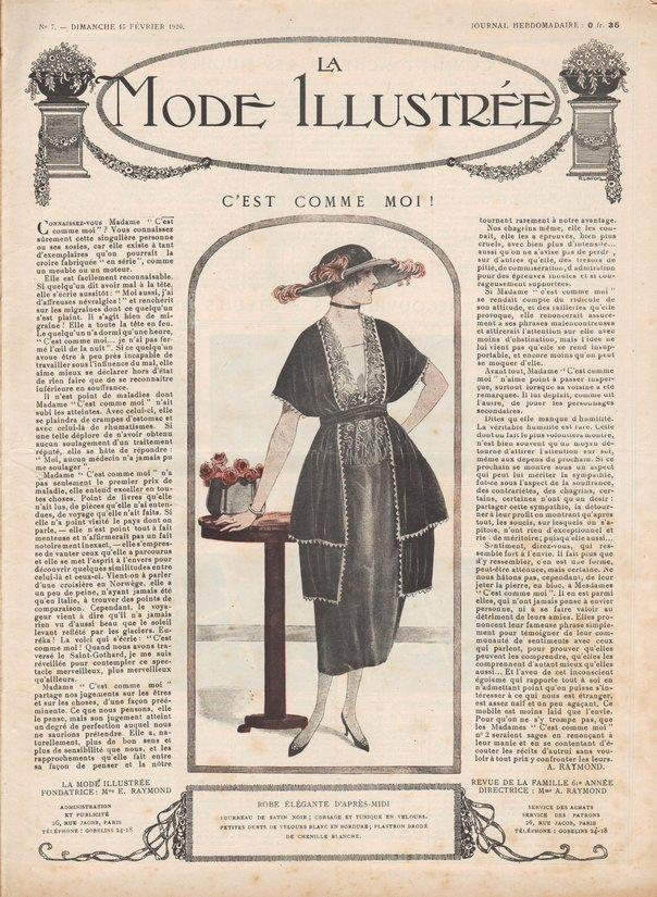 patrons de robes en 1920