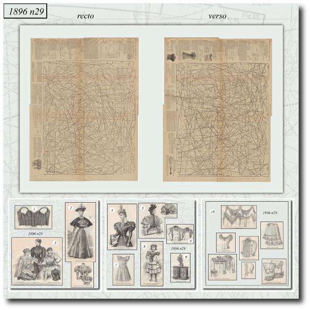 planche de patrons 1896