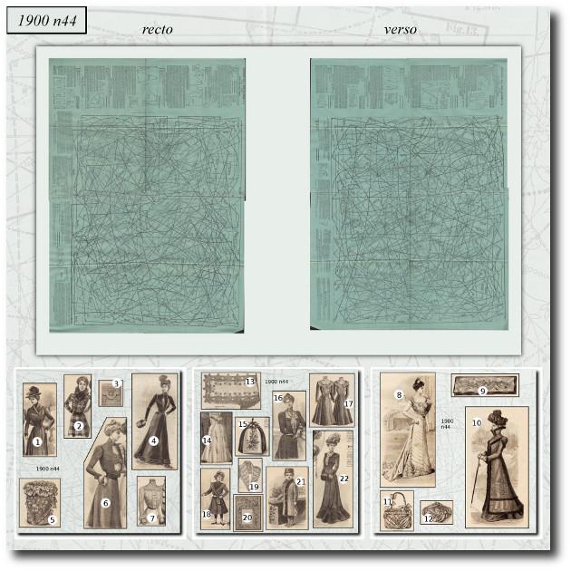 patrons de robe 1900