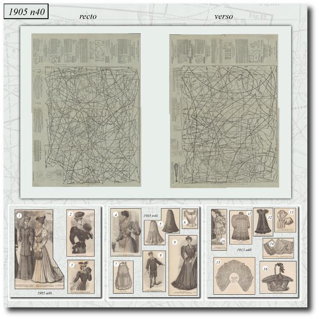 patrons de couture 1905 40