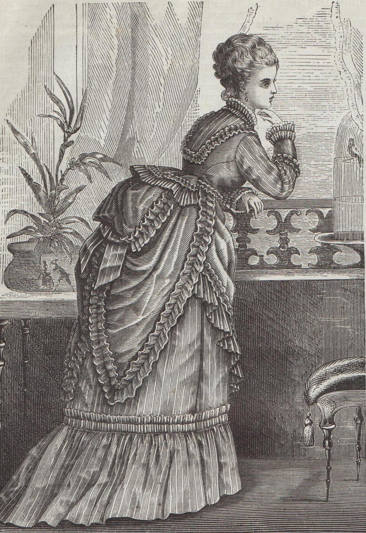 robe en popeline de 1874