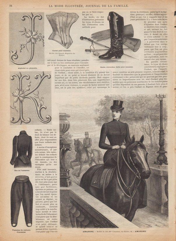 patron corset amazone 1891