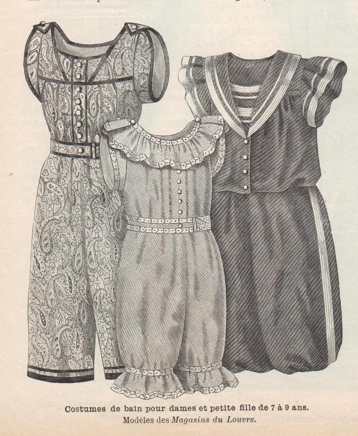 1896- costume de bain