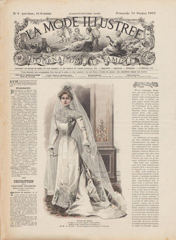 1901 toilette de mariée