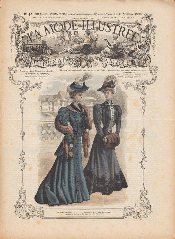 patrons de jupon et cache-corset de 1905