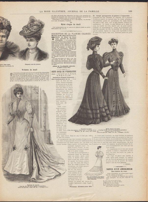 patron mariée 1905